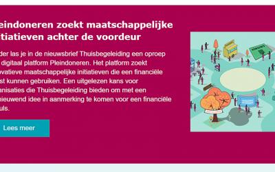 Pleindoneren in de Nieuwsbrief Thuisbegeleiding/ActiZ!